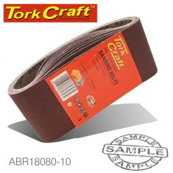 SANDING BELT 100 X 610MM 80 GRIT 10/PACK