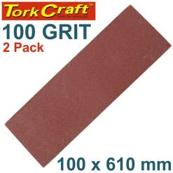 SANDING BELT 100 X 610MM 100GRIT 2/PACK