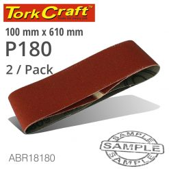 SANDING BELT 100 X 610MM 180GRIT 2/PACK